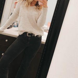 beige v neck sweater
